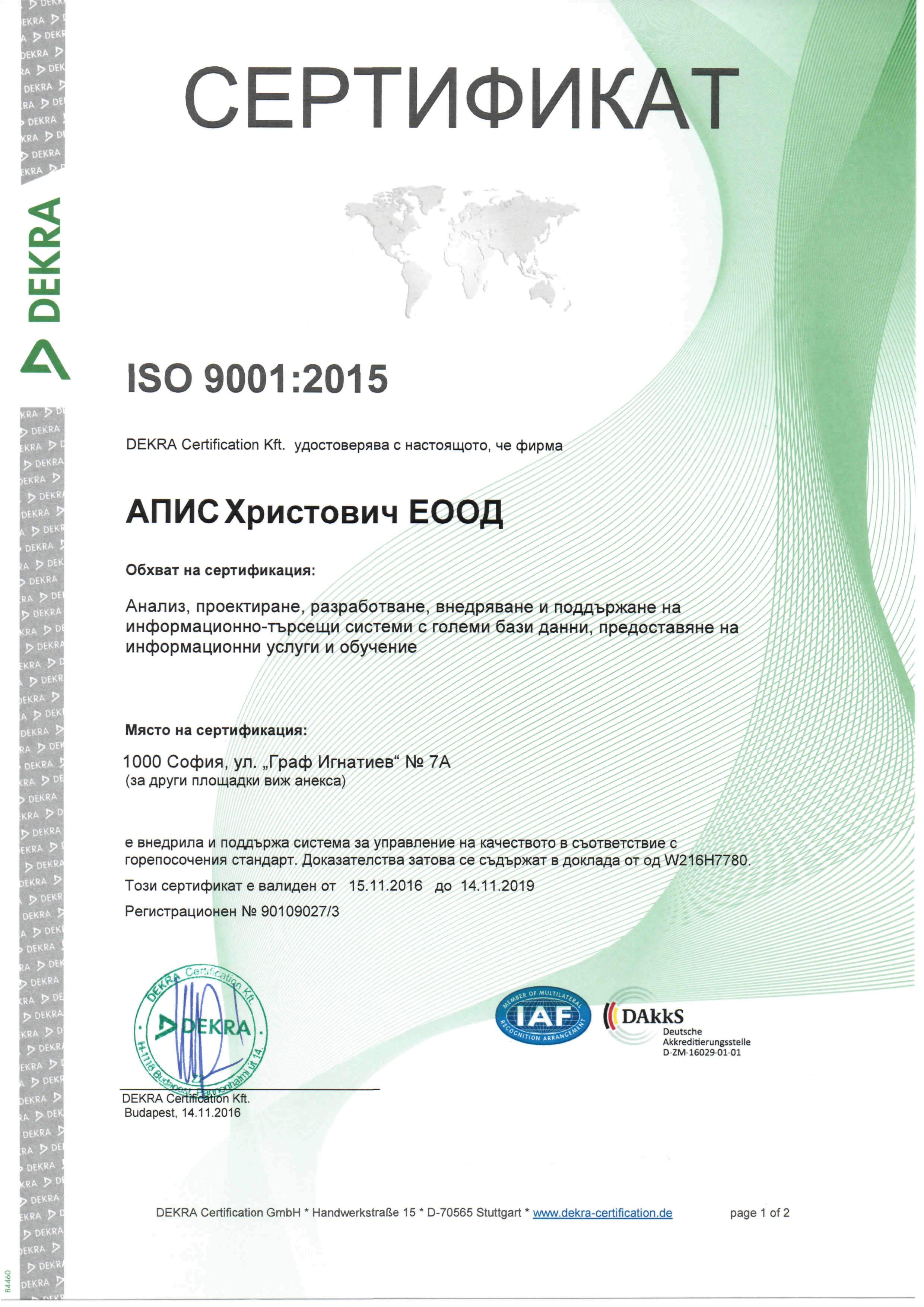 Apis Hristovich ISO